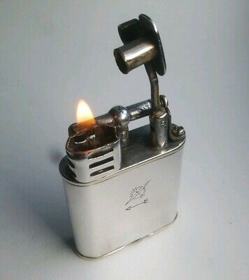 Dunhill Unique Sports petrol lighter silver plated working