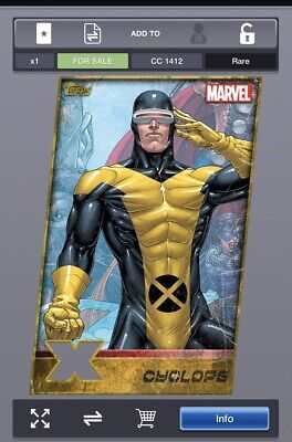 Topps Marvel Collect Weekly - Cyclops (Gold) Digital