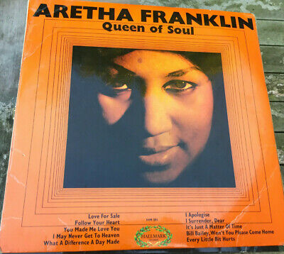 Aretha Franklin, Queen Of Soul vinyl LP, Hallmark 1968