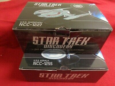 Star Trek Eaglemoss USS Discovery NCC-1255 and NC-1227 New In Box