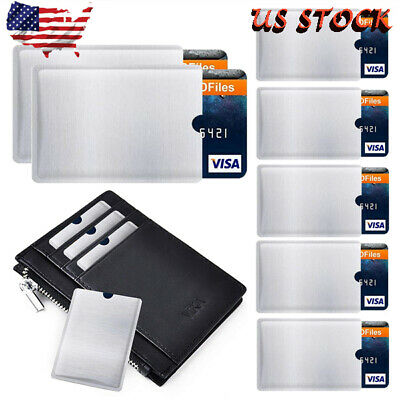 US 4 - 20x RFID Blocking Sleeve Credit Card Protector Bank Card Holder Wallets