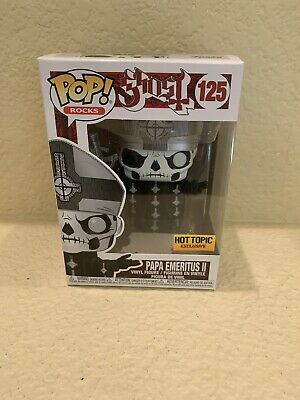 GHOST Funko Pop Rocks 125 PAPA EMERITUS II Hot Topic Exclusive! New In Hand