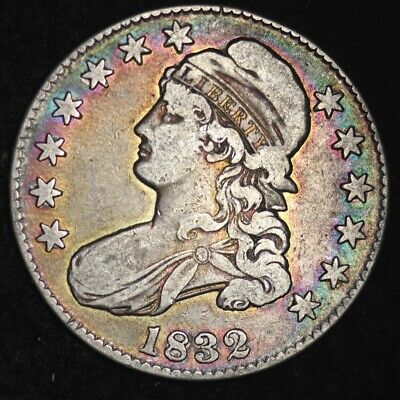 1832 Capped Bust Half Dollar CHOICE VF NICE TONING! FREE SHIPPING E310 ALM