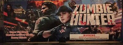 *RARE* Zombie Hunter Fireworks Salute Canister Shell Labels, Box and Tube Label