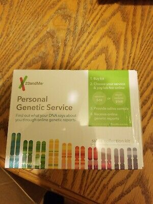 23andMe Personal Genetic DNA Saliva Kit For Ancestry. FEES EXCLUDED! EXP 7/2020