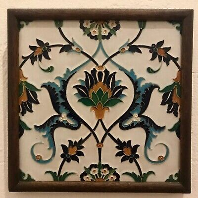 MINTON,HOLLINS & CO. PAIR OF MOULDED TILE CIRCA 1880 Victorian