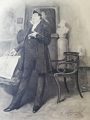 Frederick Barnard Print/Picture Mr Pecksniff Charles Dickens