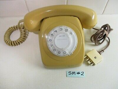1975 RETRO TOPAZ YELLOW Telephone Working & Polished - Last Year of P.M.G. SM#2