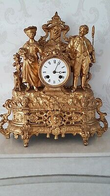 Antique Japy Freres French Gilt Mantel Clock