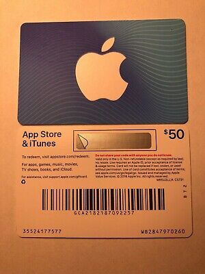 Apple App Store & iTunes Physical Gift Cards