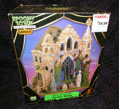 Lemax 65342 GOTHIC RUINS Spooky Town Lighted Building Halloween Decor Retired