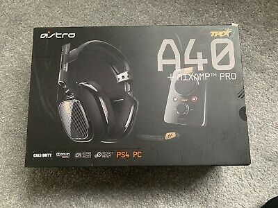 Astro A40-MIXAMP-TR Black Headband Headsets for PC + PS4