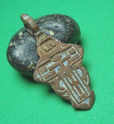 Ancient Bronze Cross Wearable Pendant Antique Rare + bonus C182