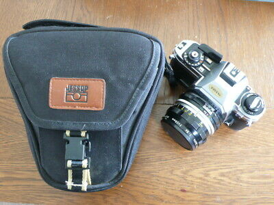 Nikon FG-20 Camera Body + Vintage Nikkor-H Lens + Bag