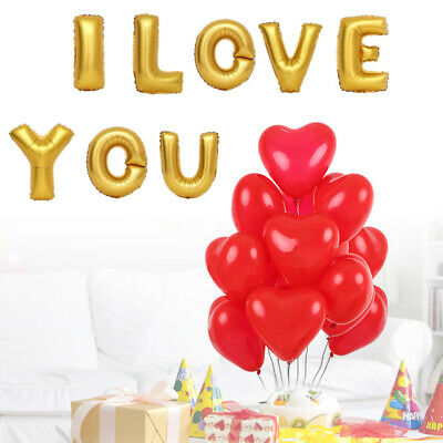 28PCS Latex Beautiful Romantic Aluminum Love Balloon Decor Balloon for Gathering
