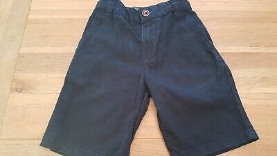 boys navy shorts age 7 years adjusrable waist from next