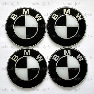 Gebildet 4pcs 65mm Wheel Hub Caps Centre Cover,Auto Car Styling Accessories Emblem Badge Sticker Black