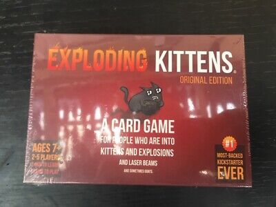GENUINE EXPLODING KITTENS Original Edition Card Party Family Game Goats NEW GIFT