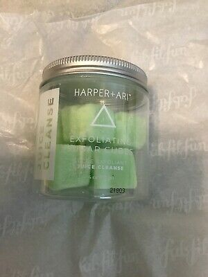 Harper + Ari - 8 Exfoliating Sugar Cubes - Juice Cleanse 4 oz - NEW IN PACKAGE