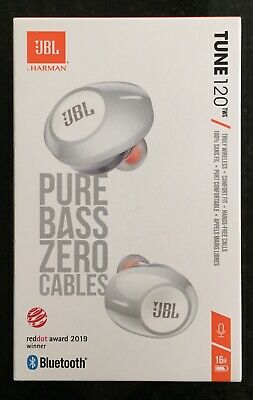 JBL TUNE 120TWS Truly Wireless In-Ear Headphones (White) Pure Bass Zero Cables