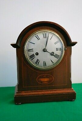 Edwardian Dome Topped Inlaid Mantle Clock.