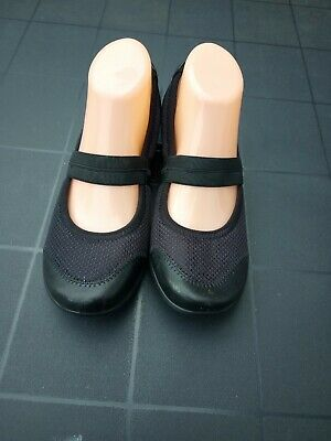 Hotter Tranquil Black Mary Jane Shoes  Size UK 5 EU 38 textile trainers  comfort