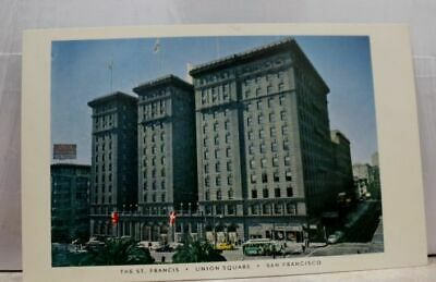 California CA San Francisco Union Square St Francis Hotel Postcard Old Vintage