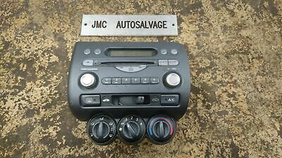 Honda Jazz Cd Player Stereo & Heater Control Panel Centre Console 2002-2004