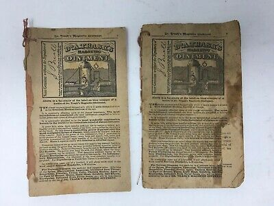 Antique Quack Medicine Advertising Booklets 1890 & 1891  Dr Ransom Trask