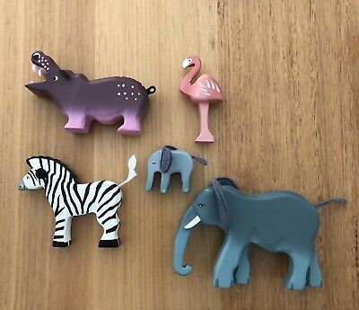 Le Toy Van Painted Wooden African Animal Set