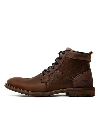 Brand New Wild Rhino Highland Mens Leather Lace Up Boots Made In Portugal