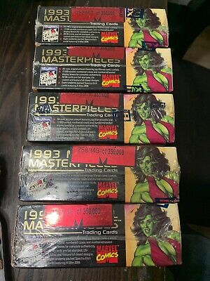 1993 Marvel Masterpieces Trading Cards Skybox Factory Sealed Box