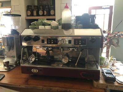 Commercial 2 group Wega coffee machine Red.