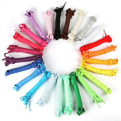 Shoelaces Colorful Coloured Flat Round Bootlace Sneaker ShoeLace 140cm Shoelace