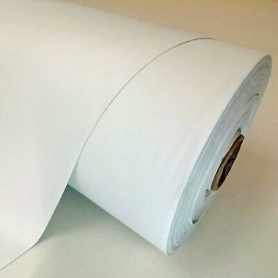 """THERMAL 100% BLACKOUT SUPERSOFT CURTAIN LINING FABRIC - 54"""" wide - WHITE & IVORY"""