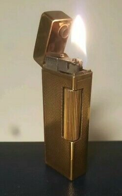 Dunhill Auto-rollalite gold plated semi automatic lighter in good working order