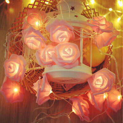 Bedroom Christmas Wedding Party Decor 10//20 LED Rose String Fairy Lights Beauty