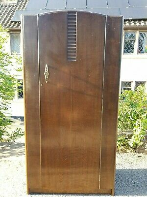 A Vintage 1950's Stag Furniture Gentleman's Fitted Wardrobe with Shelving