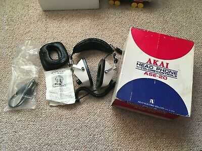 Vintage Akai ASE-20 Headphones - Boxed with Instructions