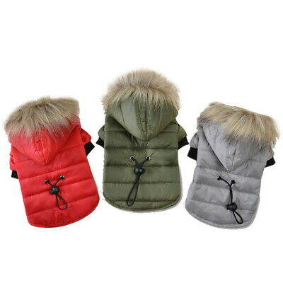 Pet Dog Puppy Winter Warm Padded Coat Jacket Costume Chihuahua Clothe Hoodie