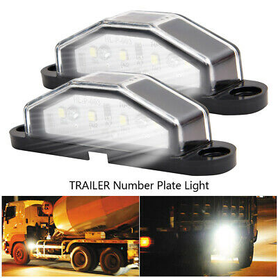 2 4 Led License Number Plate Light Tail Rear Lamp Car Truck Trailer Lorry Van An