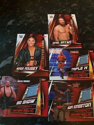 WWE Slam Attax Universe Limited Edition Ring Mat Relics + Collector cards