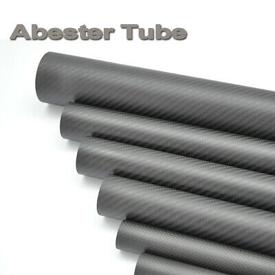 """1.25/"""" OD 48/"""" long Roll Wrapped Carbon Fiber Tube Twill Weave Gloss Finish"""