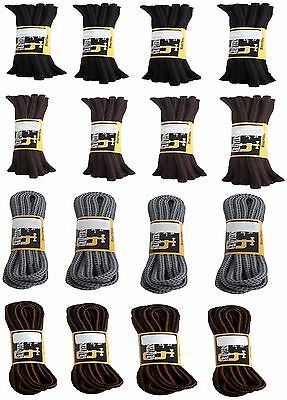Grafters Strong Work Hiking Boot Round Shoe Laces 4 Pairs 60 75 90 140 Cm Length