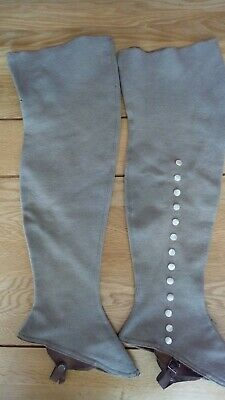 Antique Spats Victorian Gaiters Boot Covers Steampunk  Co-op Wholesale Society