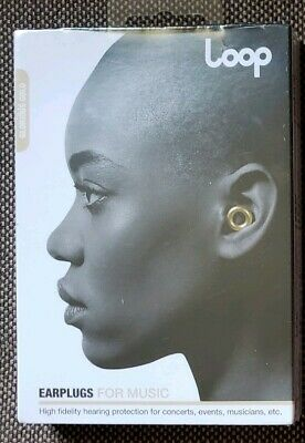Loop Earplugs for Music & Events - Brand New - Sealed - Gold