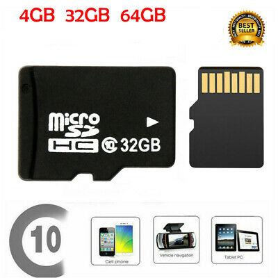 Carte Mémoire Micro SD Classe 10 TF Flash SDHC SDXC 32 64 128Go GB Tablette FR