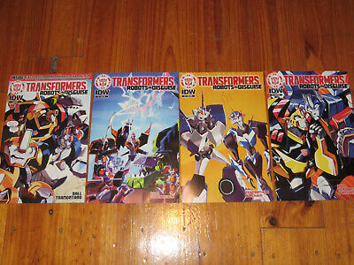 Transformers Robots in Disguise Issues 1 to 4 IDW Comics
