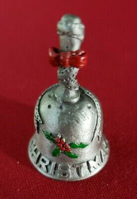 Lovely Christmas Bell Pewter Thimble that actually rings