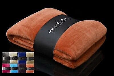 Throw Blanket Fleece for Sofa & Bed 150 x 200 cm Dense Knit for Warmth & Luxury